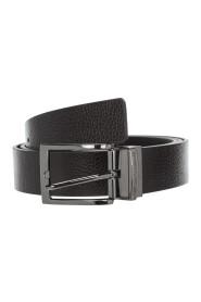 men's adjustable length reversible leather belt