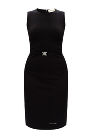 Sleeveless dress with logo