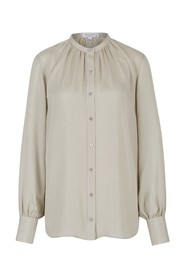 Textured causette blouse