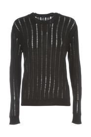 L/S KNIT RIBBED OVERSIZED SWEATER