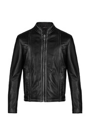 JACKET WITH CONTRAST STITCHING