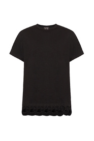 T-shirt with woven details