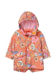 WATERPROOF WITH FLORAL FANTASY HOOD