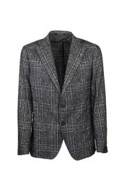Checkered jacket with two buttons blazer