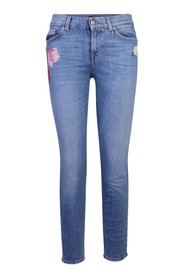 Embroidered Jean
