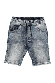 DIESEL 00J497 KROOLEY-NE-J SHORTS AND BERMUDAS Boy DENIM MEDIUM BLUE