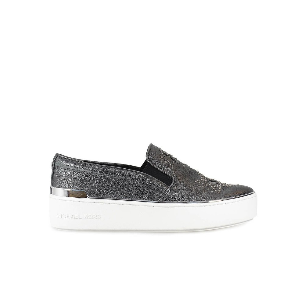 TYSON GUNMETAL SLIP ON MET STARS INLAY