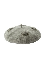 Sparkle Heart Beret Acc Casual Knitted