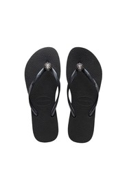 Crystal poem black slipper