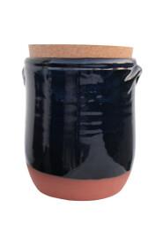 Keramik krukke med låg