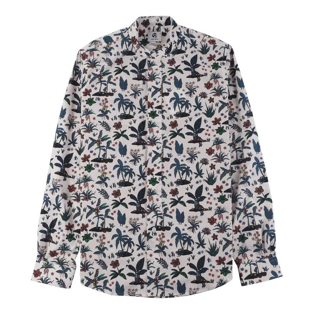 PS By Paul Smith Herreshirt Casual Fit med Flower Print