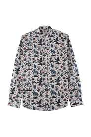 Herreshirt Casual Fit med Flower Print
