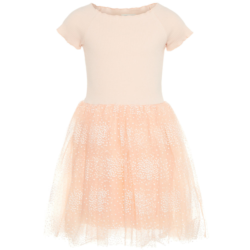 Dress dotted tulle
