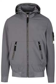 SLEEVE PATCH HOODED JACKET