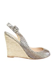 Python Skin Espadrilles Wedge -Pre Owned Condition Excellent