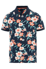 ALL OVER FLORAL PIQUE SS RUGGER