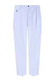 Pleat-front trousers with logo