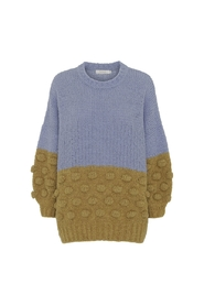 Bobble Knit Volume Sweater