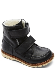 Bundgaard Kids Boot Terry w/velcro Black Military
