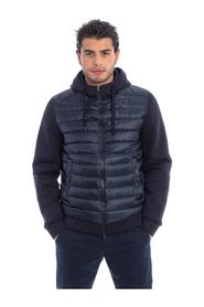 BIMATERIAL JACKET WITH HOOD