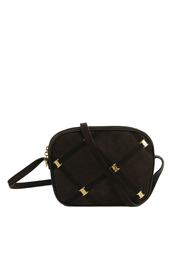 Nubuck Leather Vara Crossbody Bag