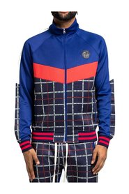 Track Jacket Glen Plaid Full Zip Up