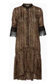 Stella kjole - Brun Leopard