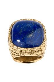 Miki Lapis Lazuli gold plated ring