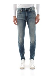 CALVIN KLEIN JEANS J30J312352 - 016 SKINNY JEANS Men DENIM MEDIUM BLUE