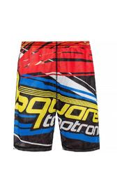 Perforated shorts with print