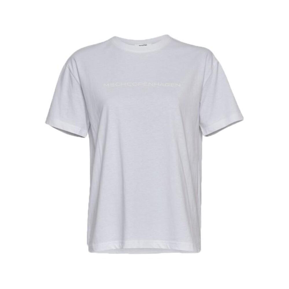 Grey Liv Organic Logo Tee  Moss Copenhagen  T-Skjorter - Dameklær er billig