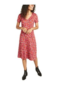 M3/4 Angele dress with graphic pattern