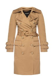 Trench coat with decorative buttons