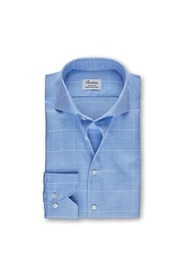 Glen Check Fitted Body Shirt