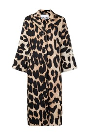 Manteau maxi leopard