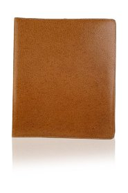Tan Leather 5 Ring 1988 Agenda with Pen