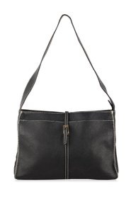 Shoulder Bag with Contrast Stitchings