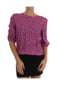 Polka Dotted Silk Blouse