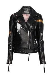 Ninouk Biker Jacket Handpainted