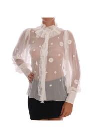 Daisy Applique Silk Shirt