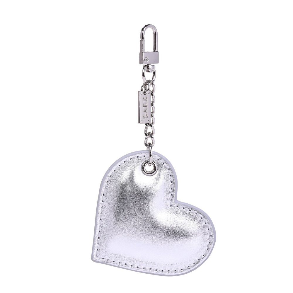 SIGN CHARM HEART SILVER W/SILVER