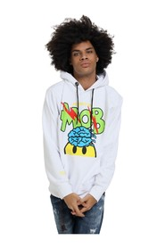 SWEATSHIRT WITH HOOD AND FRONT PRINT