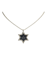 Star Dog Tag Necklace Metal SV925 / Sterling Silver