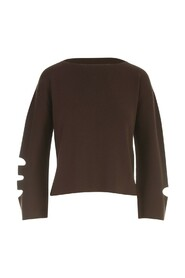 BOAT NECK SWEATER W/SLIT ON SLEEVES