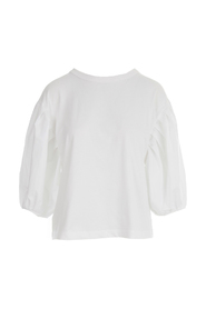 CREW NECK CURLED 3/4S SHIRT