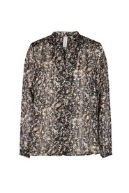 Patterned chiffon blouse