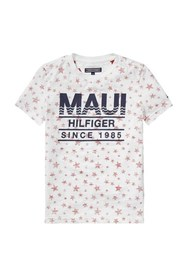 TOMMY HILFIGER 1984 PRINTED TEE T SHIRT AND TANK Boy WHITE