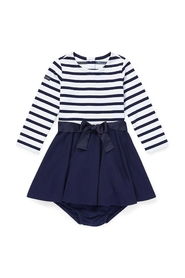 Stripe Solid Dress French