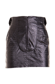 Croco print eco-leather mini skirt