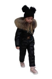 Ciara jumpsuit sort/natur fake fur